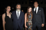 """(L-R) Rosalind Ross, director Mel Gibson, Kyla Weber and actor Vince Vaughn attend the screening of Summit Entertainment's """"Hacksaw Ridge"""" at Samuel Goldwyn Theater on October 24, 2016 in Beverly Hills, California."""