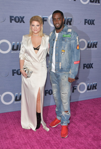 Season Finale Viewing Party For FOX's 'The Four' - Arrivals [the four,red carpet,carpet,fashion,premiere,fashion design,flooring,event,award,arrivals,sean ``diddy combs,meghan trainor,delilah,viewing party,west hollywood,season finale viewing party for fox,l,season finale]