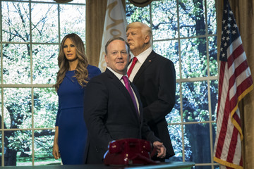 Sean Spicer Sean Spicer Appears At Madame Tussaud's Unveil Of Melania Trump Wax Figure