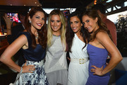 """(L-R) TV Personality Julia Allison, executive producer Ashley Tisdale and TV personalities Emily Morse and Amy Laurent attend the season premiere viewing party of Bravo's """"Miss Advised"""" hosted by Executive Producer Ashley Tisdale held at Planet Dailies & Mixology 101 on June 18, 2012 in Los Angeles, California."""