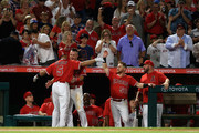 Albert Pujols and Kole Calhoun Photos Photo