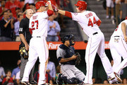 Albert Pujols Mark Trumbo Photos Photo