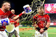 Albert Pujols and Mike Trout Photos Photo