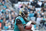 Jacksonville Jaguars runs with the football during the first half of their game against the Seattle Seahawks at EverBank Field on December 10, 2017 in Jacksonville, Florida.
