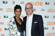 """Media personality Tamron Hall and President and CEO of the ASPCA Matthew Bershadker attend the """"Second Chance Dogs"""" Screening In Honor Of ASPCA's 150th Anniversary at The House of Vans on April 10, 2016 in the Brooklyn borough of New York City."""
