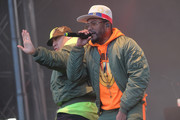 Rappers Taboo (L) and apl.de.ap of The Black Eyed Peas perform at Secret Solstice Festival powered by Icelandic Glacial on June 22, 2019 in Reykjavik, Iceland.
