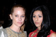 (L-R) Actresses Suzy Malick and Reshma Shetty attends Mercedes-Benz Fashion Week Fall 2011 at Lincoln Center on February 12, 2011 in New York City.
