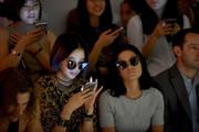 Irene Kim (L) and Leigh Lezark attend the Kye fashion show during Spring 2016 New York Fashion Week: The Shows at Skylight at Clarkson Sq on September 11, 2015 in New York City.