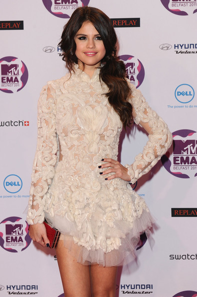 Selena Gomez MTV Europe Music Awards Hostess Selena Gomez attends the MTV Europe Music Awards 2011 at the Odyssey Arena on November 6, 2011 in Belfast, Northern Ireland.