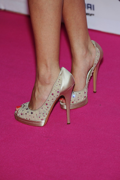 Selena Gomez MTV Europe Music Awards Hostess Selena Gomez (shoe detail) attends the MTV Europe Music Awards 2011 at the Odyssey Arena on November 6, 2011 in Belfast, Northern Ireland.