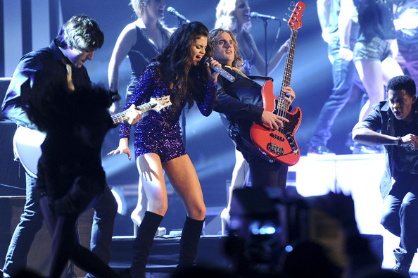 Selena Gomez MTV Europe Music Awards hostess Selena Gomez performs onstage during the MTV Europe Music Awards 2011 live show at at the Odyssey Arena on November 6, 2011 in Belfast, Northern Ireland.