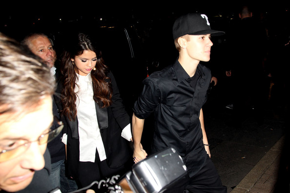 Selena Gomez MTV Europe Music Awards Hostess Selena Gomez and singer Justin Bieber arrive to attend the MTV Voices Dinner during the MTV Europe Music Awards 2011 at the Merchant Hotel on November 5, 2011 in Belfast, Northern Ireland.