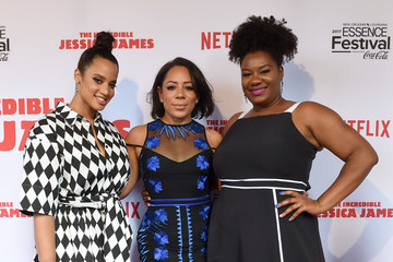 Selenis Leyva Dascha Polanco Premiere of Netflix Original Film 'The Incredible Jessica James' at the 2017 Essence Festival