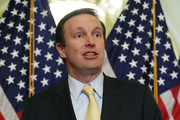 Chris Murphy (D-CT) speaks during a news conference regarding healthcare and President Trump's effort to repeal the Affordable Care Act., on Capitol Hill October 17, 2017 in Washington, DC.