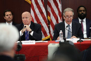 Rep. Richard Neal (R) (D-MA), ranking member on the House Ways and Means Committee, delivers his opening statement as members of the U.S. Senate and U.S. House of Representatives gather for a Senate-House Conference Committee meeting December 13, 2017 at the U.S. Capitol in Washington, DC.  The Senate-House Conference Committee met to review and reconcile tax reform legislation passed by both houses of the U.S. Congress. Also pictured is Rep. Kevin Brady (L) (R-TX), chairman of the House Ways and Means Committee.