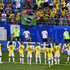 Carlos Sanchez Mateus Uribe Photos - Yerry Mina of Colombia celebrates with teammates after scoring his team's first goal during the 2018 FIFA World Cup Russia group H match between Senegal and Colombia at Samara Arena on June 28, 2018 in Samara, Russia. - Senegal vs. Colombia: Group H - 2018 FIFA World Cup Russia
