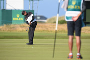 Thaworn Wiratchant of Thailand putts on the 13th green during Day One of The Senior Open Presented by Rolex at The Old Course on July 26, 2018 in St Andrews, Scotland.
