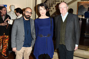 """Director Ritesh Batra, Actress Harriet Walter and Actor Jim Broadbent attend the """"The Sense of an Ending"""" Lunch & Q and A at The Lotus Club on March 7, 2017 in New York City."""
