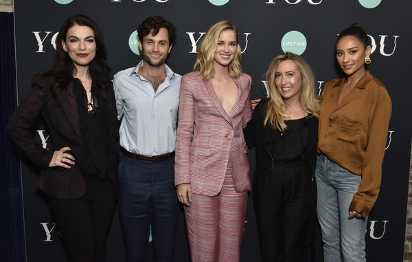 Screening Of Lifetime's 'You' Series Premiere [you series premiere,event,premiere,fashion,suit,formal wear,performance,sera gamble,caroline kepnes,penn badgley,elizabeth lail,shay mitchell,new york city,screening of lifetime,screening]