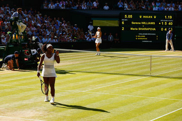 Serena Williams Maria Sharapova Day Ten: The Championships - Wimbledon 2015