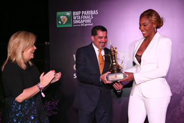 Serena Williams Stacey Allaster BNP Paribas WTA Finals: Singapore 2014 - Day Six