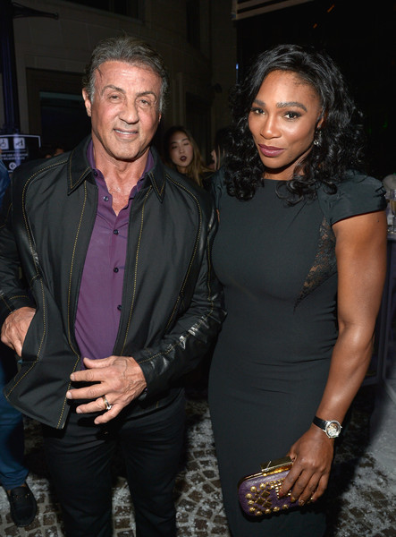 ¿Cuánto mide Sylvester Stallone? - Real height Serena+Williams+Sylvester+Stallone+Audemars+Ku-31eqaY0ol
