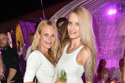 Sonja Kiefer and Mirja du Mont during the Serfan fashion show night on August 27, 2016 in Starnberg, Germany.