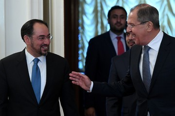 Sergei Lavrov Russia's Foreign Minister Lavrov Meets With His Afghan Counterpart.