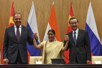 Sergei Lavrov India, China, Russia trilateral Meeting in New Delhi