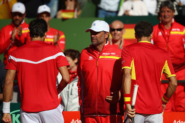 Sergi Bruguera Spain v Great Britain - Davis Cup by BNP Paribas World Group First Round - Day 2