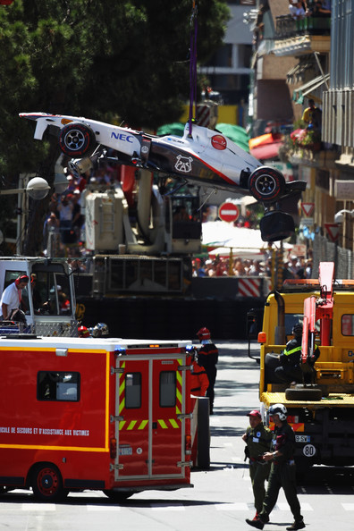 monaco grand prix 2011 crash. F1 Grand Prix of Monaco -