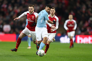 Sergio Aguero Arsenal vs. Manchester City - Carabao Cup Final