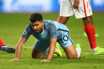 Sergio Aguero AS Monaco v Manchester City FC - UEFA Champions League Round of 16: Second Leg