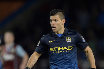 Sergio Aguero Burnley v Manchester City - Premier League
