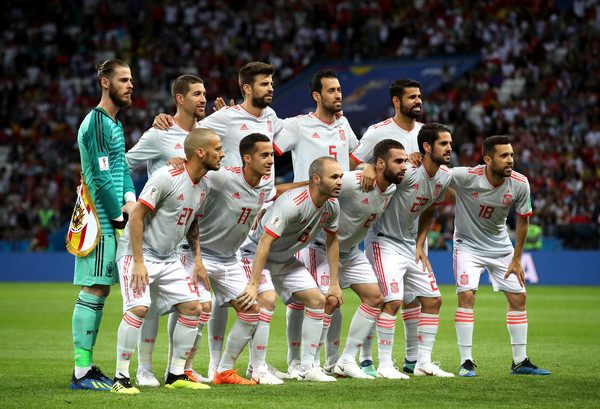 Iran Vs. Spain: Group B - 2018 FIFA World Cup Russia [player,team,sport venue,team sport,soccer player,football player,championship,sports,ball game,soccer,russia,spain,kazan arena,team,iran,iran vs. spain: group b - 2018 fifa world cup,group b match]