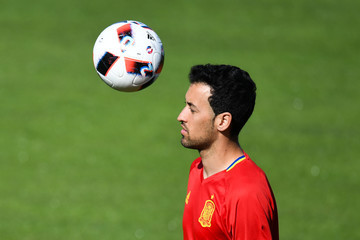Sergio Busquets Spain Training Session and Press Conference