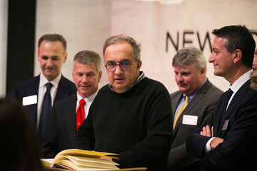 Sergio Marchionne Ferrari Chairman Sergio Marchionne Rings NYSE Opening Bell