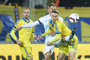 Serhiy Sydorchuk Ukraine v Slovenia - UEFA EURO 2016 Qualifier: Play-Off First Leg