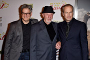 """(L-R) Show creator Peter Gould, actors Jonathan Banks and Bob Odenkirk arrive at the series premiere of AMC's """"Better Call Saul"""" at the Regal Cinemas L.A. Live on January 29, 2015 in Los Angeles, California."""
