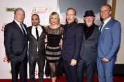 """(L-R) Actors Michael McKean, Michael Mando, Rhea Seehorn, Bob Odenkirk, Jonathan Banks and Patrick Fabian arrive at the series premiere of AMC's """"Better Call Saul"""" at the Regal Cinemas L.A. Live on January 29, 2015 in Los Angeles, California."""
