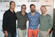 (L-R) Randy Zisk, Brannon Braga, Carter Covington, and Patrick Smith arrive to the Showrunner panel discussion during SeriesFest at the Sie FilmCenter - Maglione Theatre on June 20, 2015 in Denver, Colorado.