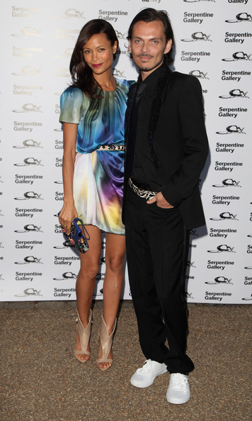 Thandie Newton and Matthew Williamson attend The Serpentine Gallery Summer Party at The Serpentine Gallery on July 9, 2009 in London, England.