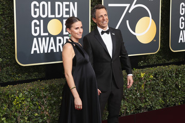 Seth Meyers Alexi Ashe 75th Annual Golden Globe Awards - Arrivals