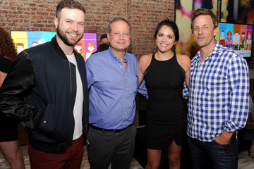 Seth Meyers Michael Shoemaker Guests Attend 'The Awesomes' Season 3 Premiere Party and Screening