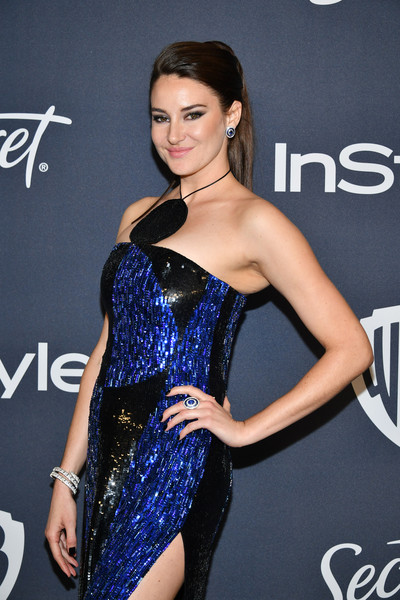 21st Annual Warner Bros. And InStyle Golden Globe After Party - Arrivals [clothing,shoulder,dress,cocktail dress,fashion model,hairstyle,fashion,joint,model,long hair,shailene woodley,beverly hills,california,the beverly hilton hotel,warner bros,instyle golden globe,instyle golden globe after party,arrivals,shailene woodley,golden globe awards,celebrity,photograph,stock photography,image,photography,instyle]