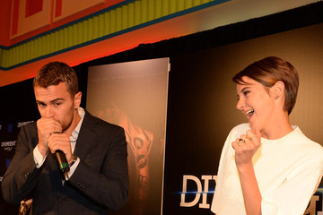 """Shailene Woodley Theo James Summit Entertainment """"Divergent"""" Special Screening Event - Red Carpet"""