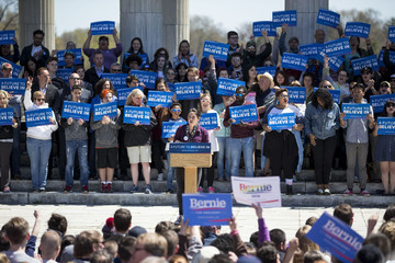 Shailene Woodley Bernie Sanders Holds Campaign Rally in Providence, Rhode Island
