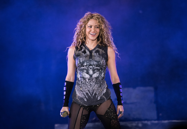 Shakira Performs In Concert - New York City [performance,entertainment,performing arts,music artist,stage,singing,thigh,singer,fashion,public event,shakira,new york city,madison square garden,shakira in concert,concert]