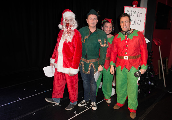The Christian O'Connell Breakfast Show  [christian oconnell breakfast show presents zombie claus 2,christian oconnell breakfast show,santa claus,red,christmas,event,fictional character,costume,performance,fun,holiday,party,christian oconnell,shane richie,richie firth,james may,england,london,absolute radio]