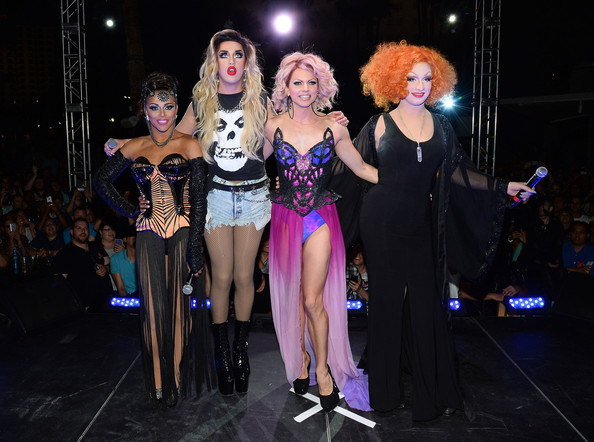 'RuPaul's Drag Race' Season 6 Finale [rupauls drag race,performance,event,fashion,performing arts,fashion design,performance art,stage,competition,jinkx monsoon,cast member,cast members,l-r,new tropicana las vegas,season six finale,season,finale,viewing party]